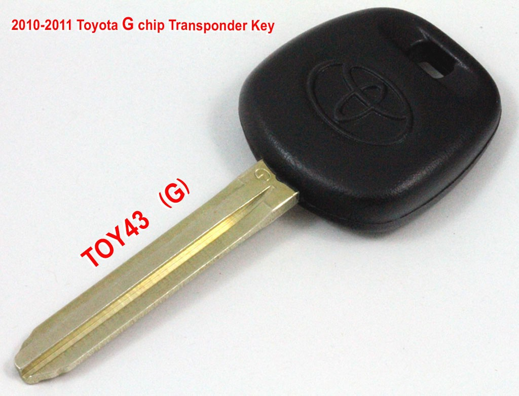2010-2011 Toyota transponder key with G chip