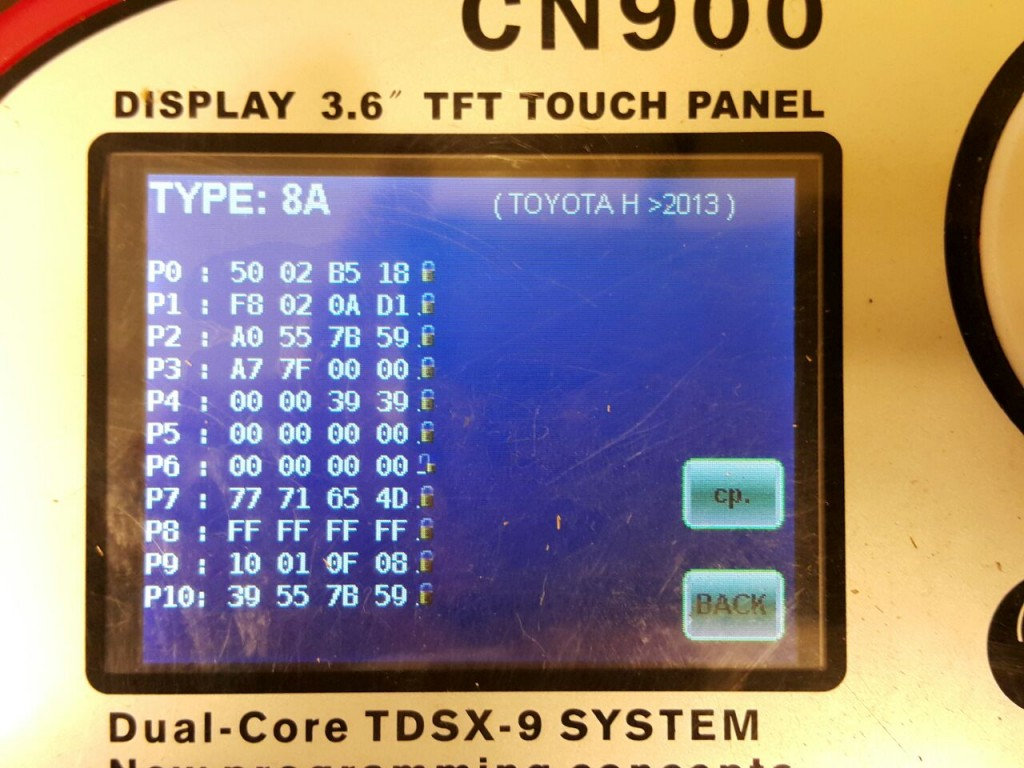 CN900 and Quickly key chip copy machine read Toyota H chip