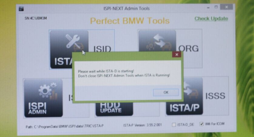 configure BMW ICOM WIFI USB to enable WIFI