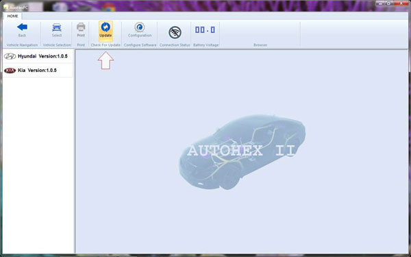 register and update 2015 AutoHexⅡscan tool software