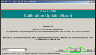 get Toyota Calibration file with TIS Techstream