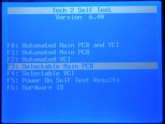 GM Tech2 scanner RS232 cable self test