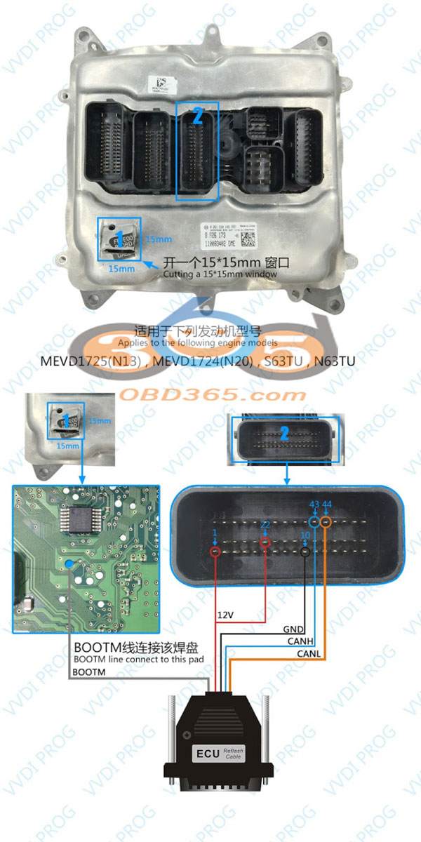 VVDI Pro Programmer read BMW 5 series N20 ECU