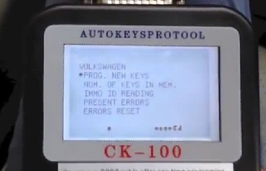 program Volkswagen chip48 with CK-100 auto key programmer