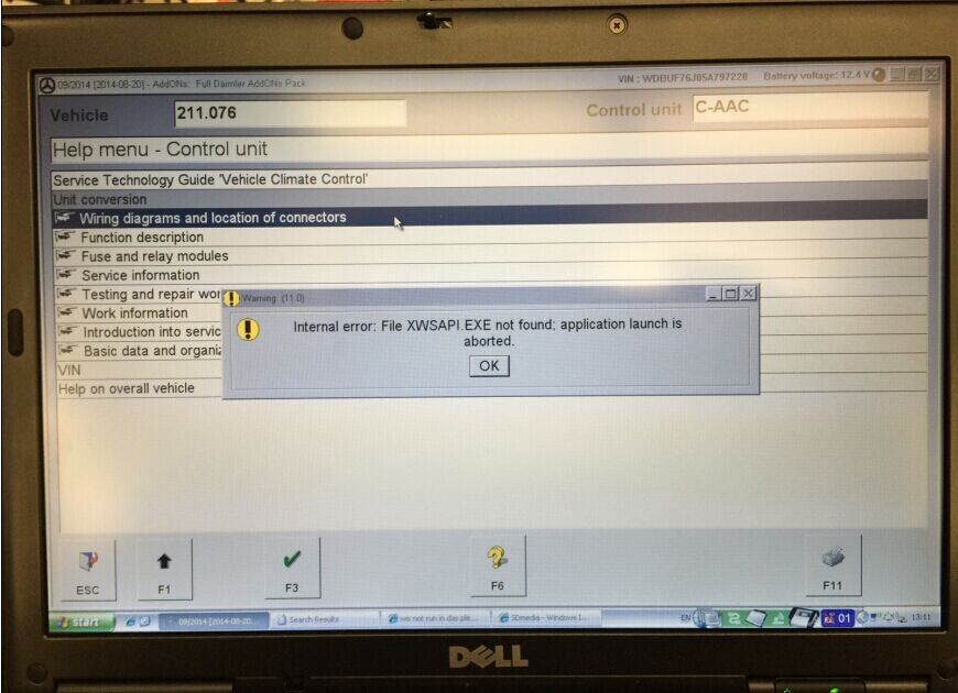 super mb star c3 internal error