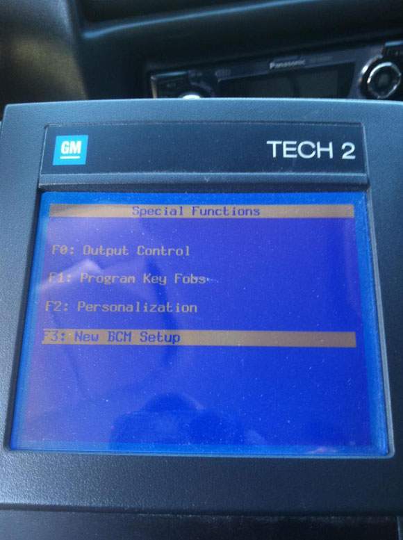 GM Tech2 Scan Tool to Disable DRLs
