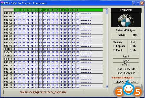 R280-BMW-CAS4-programmer-read-write-5M48H-eeprom-(14)