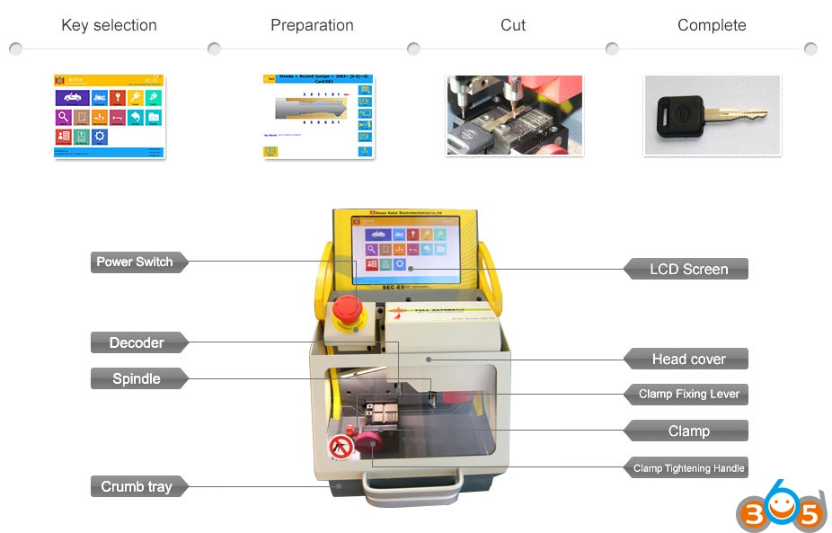sec-e9-cnc-key-cutting-machine-displsy