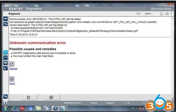 Xentry-das-véhicule-communication-error-résolu