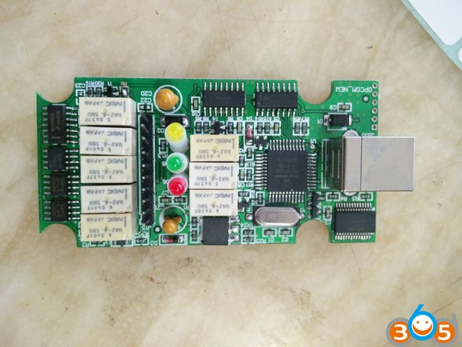 Opcom-firmware-1.45-pcb