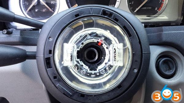 How to repair mercedes w204 esl elv steering wheel lock for Steering wheel lock mercedes benz