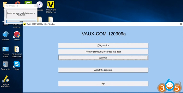 How to install OPCOM VAUX-COM software driver on Windows 10