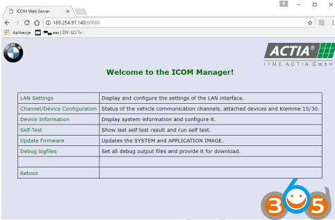 How to set up DHCP server on external router for BMW ICOM