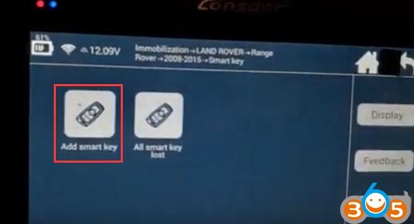 Lonsdor-K518ISE-ajouter-nouvelles-clés à Range-Rover (7)