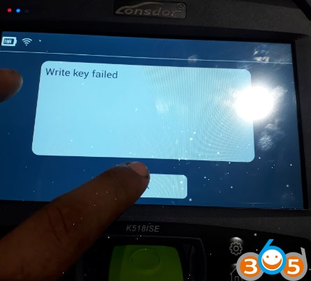 write-key-failed