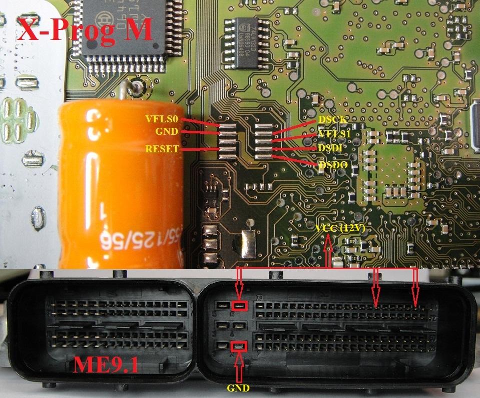 ME9.1-bdm-xprog-pinout