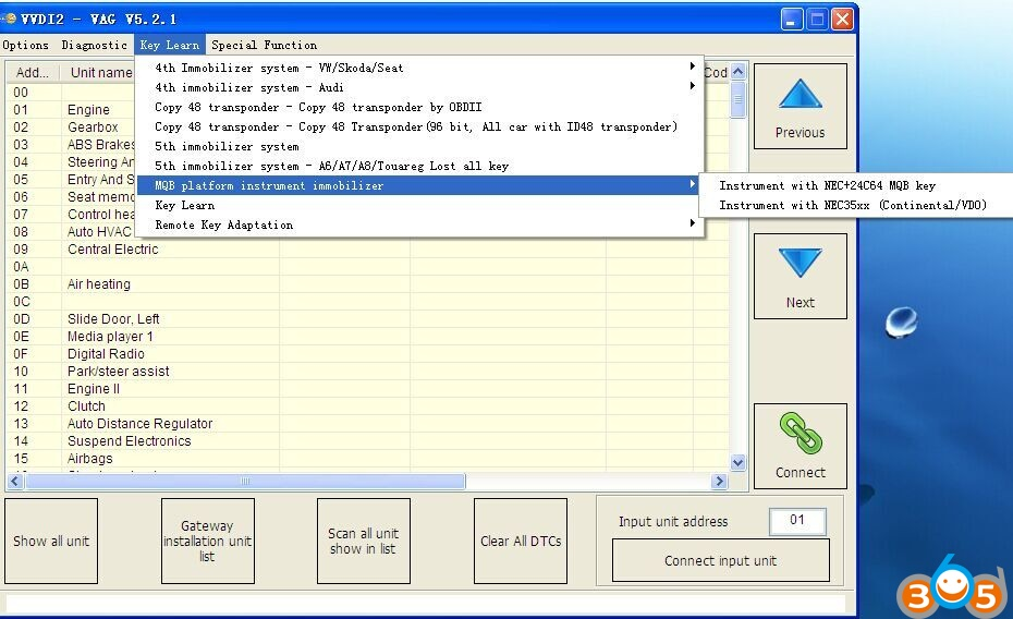 VAG MQB Key Programming + Odometer Correction Recommendation