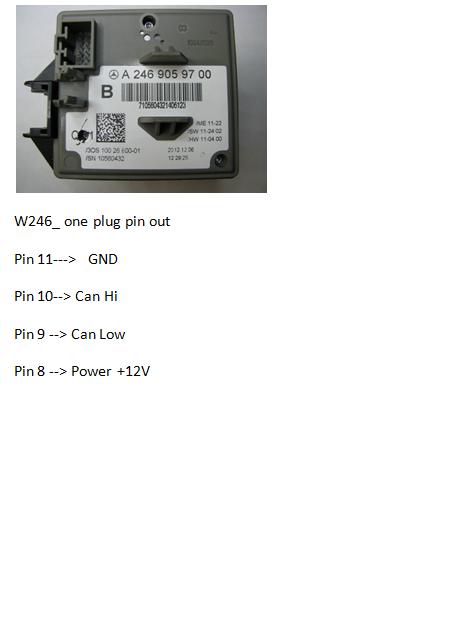 W246-one plug
