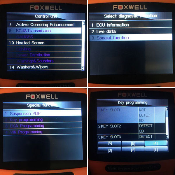 Foxwell NT510/NT520 Land rover Discovery Special Functions