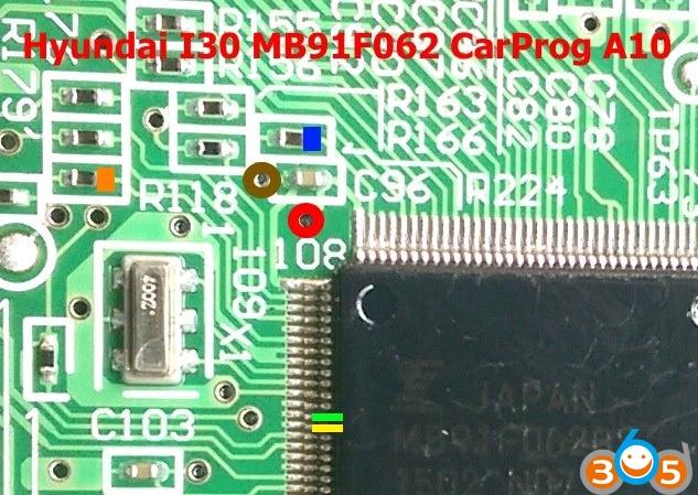 carprog-Hyundai-i30-mb91f062-pinout