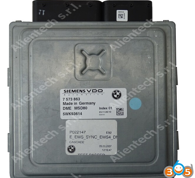 How to Clone Siemens MSDxx ECUs for BMW SSM vehicles | OBDII365 com