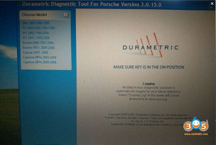 How to use Porsche Durametric Version 3 Cable to Read/Clear