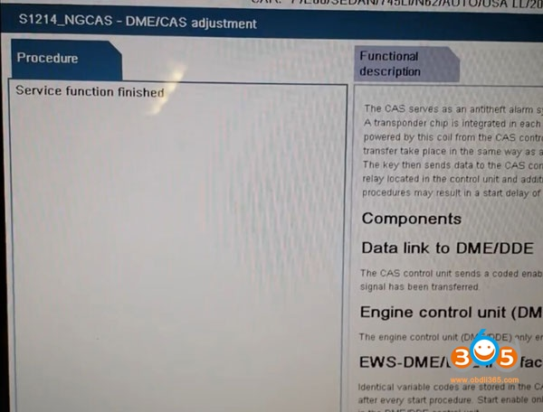 How to do BMW CAS DME Sync After New Programmed Key Failed to Start