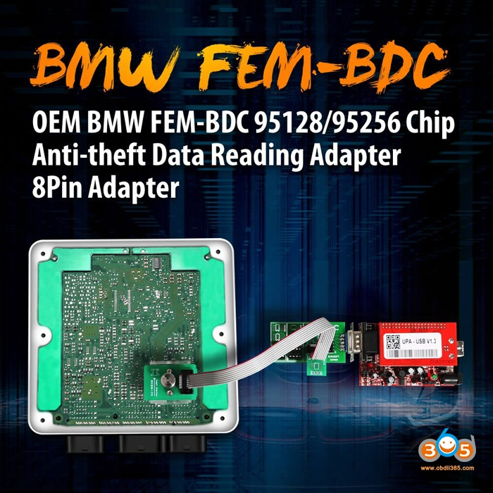 BMW FEM BDC 8Pin Adapter 95128 95256 Chip 1