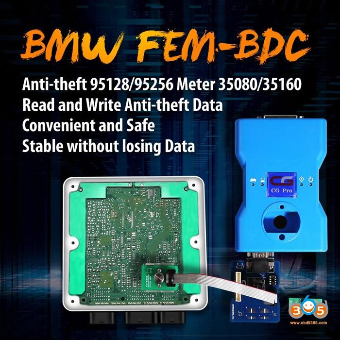 BMW FEM BDC 8Pin Adapter 95128 95256 Chip 2