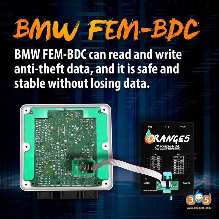 BMW FEM BDC 8Pin Adapter 95128 95256 Chip 3