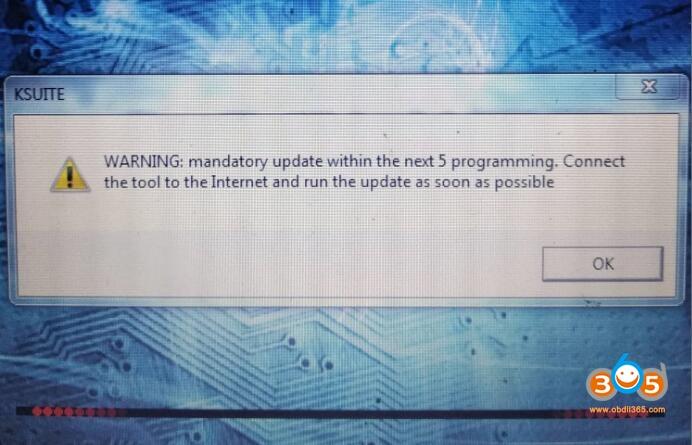 Ktag Warning Mandatory Update 2