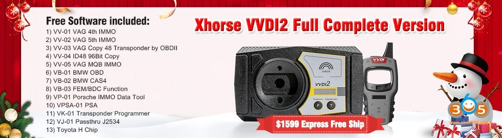 980 280 Xhorse VVDI2 Full Complete Version