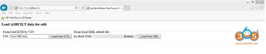 Ford Focccus PC App 1