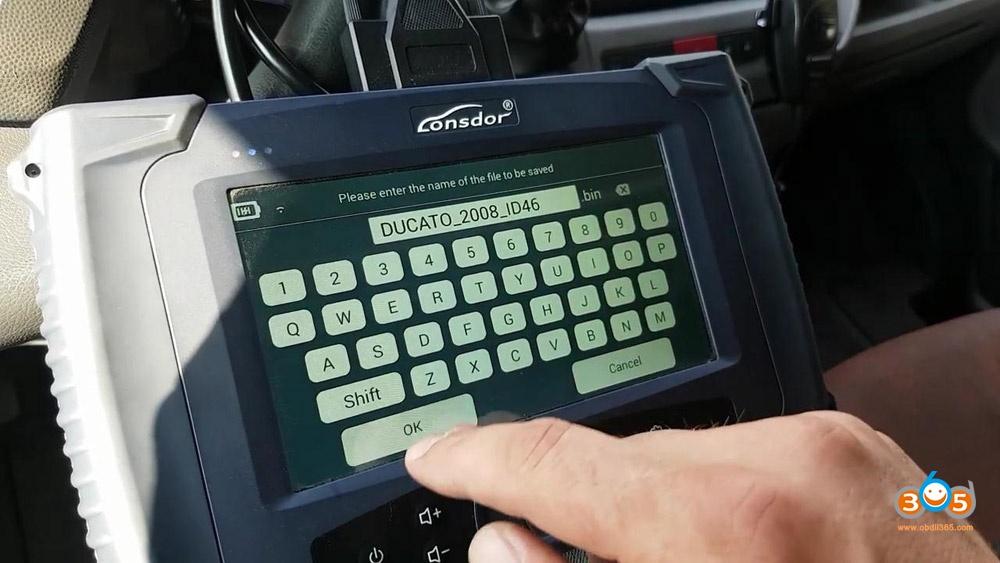 Lonsdor K518s Fiat Ducato 2008 Id46 Key Programming 10