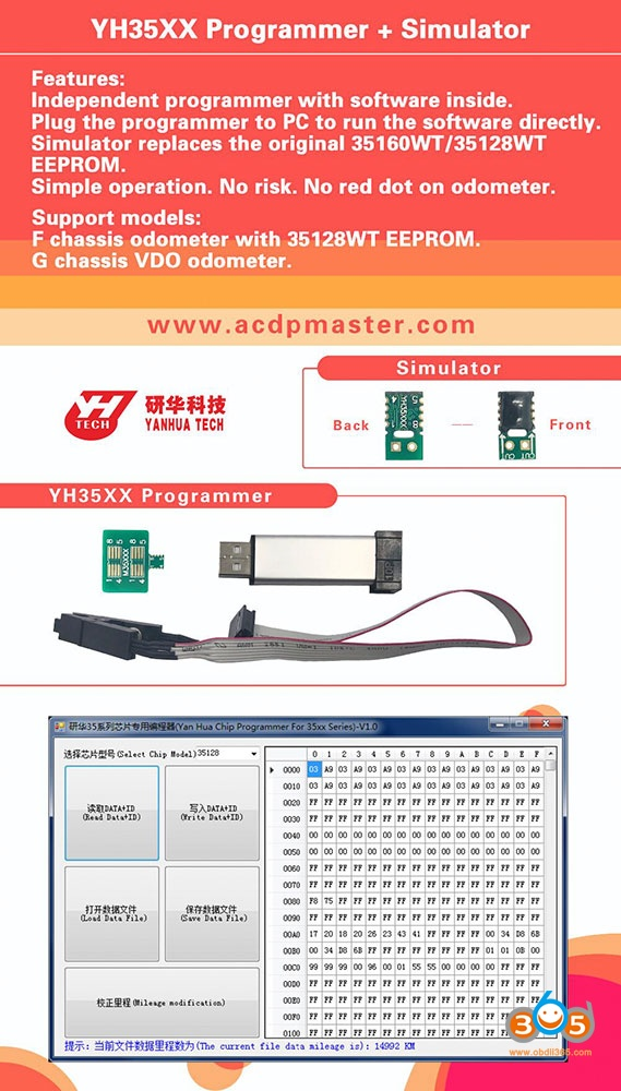 Yanhua Acdp Mini One D F54 2017 Mileage Reset 15
