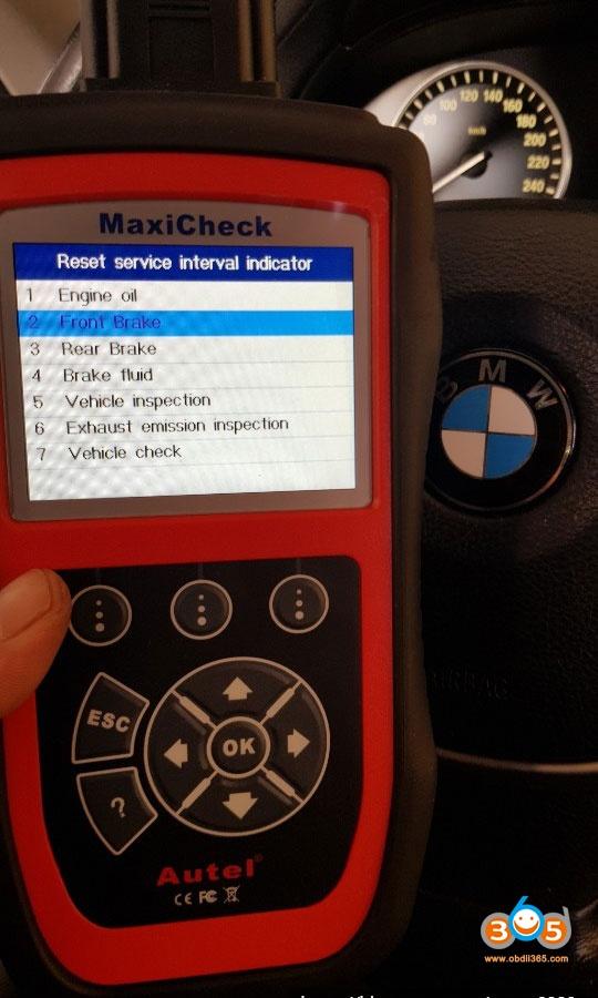 Autel Maxicheck Bmw 730 Brake Pad 10