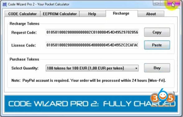 Code Wizard Pro2 Token Recharge 4