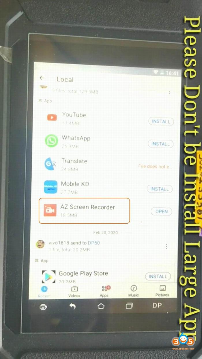 Setup Mobile Kd In Obdstar Pro4 21