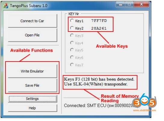 Tango Subaru Smart Key 7