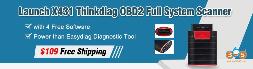 980 280 Launch X431 Thinkdiag OBD2 Full System Scanner