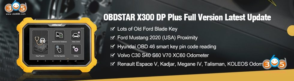 980 280 OBDSTAR X300 DP Plus Full Version Latest Update