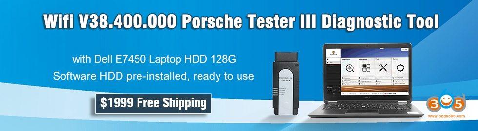 980 280 Wifi V38400000 Porsche Tester III Diagnostic Tool