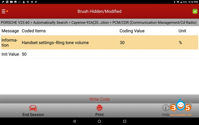 Cayenne 958 Adjust Ringtone Volume 01