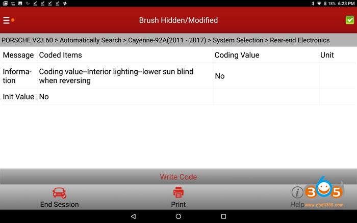 Cayenne 958 Auto Lower Sun Blind When In Reverse 01