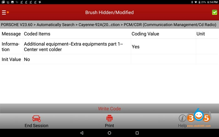 Enable Cayenne 958 Hidden Pcm Features Coding 01