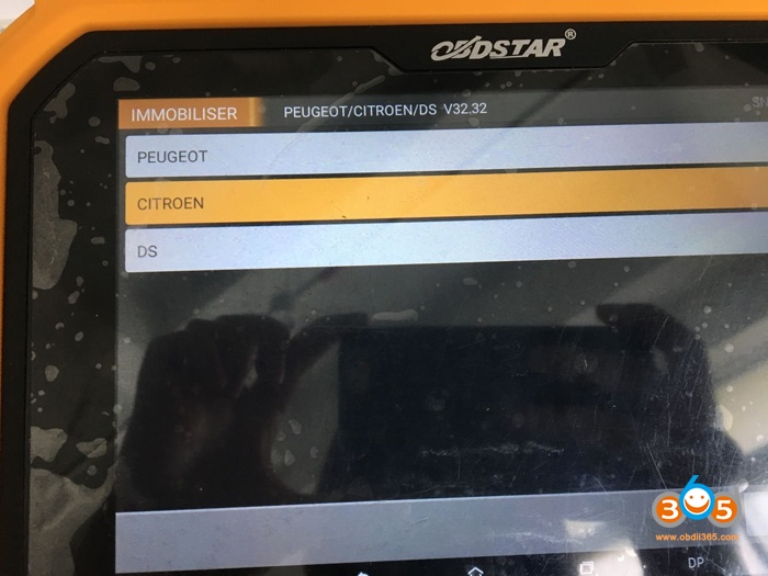 Obdstar X300 Dp Plus Program Citroen C4 Picasso Key 02