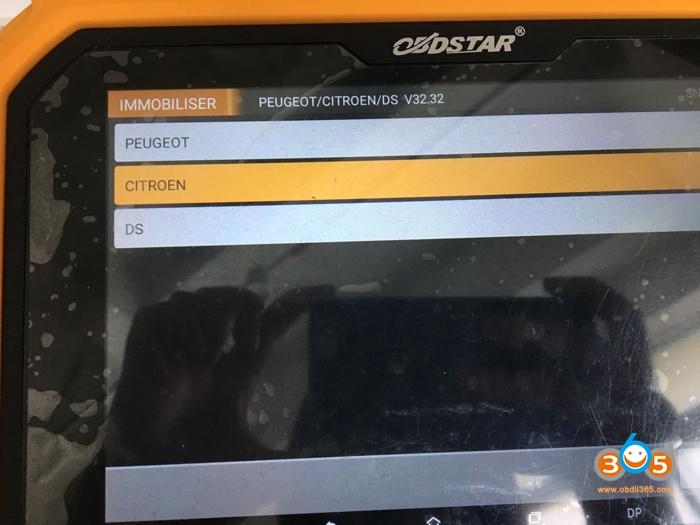 Obdstar X300 Dp Plus Program Citroen C4 Picasso Key 05