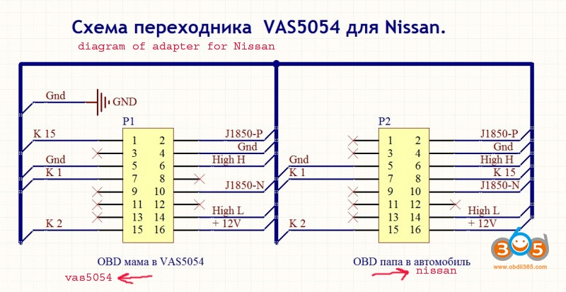 Adapter Needed For Nissan Consult EN
