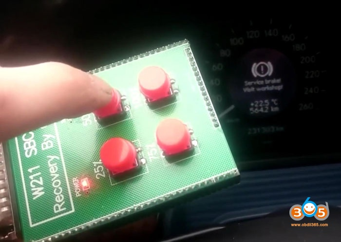 Mercedes W211 Resetting The Error C249f 03