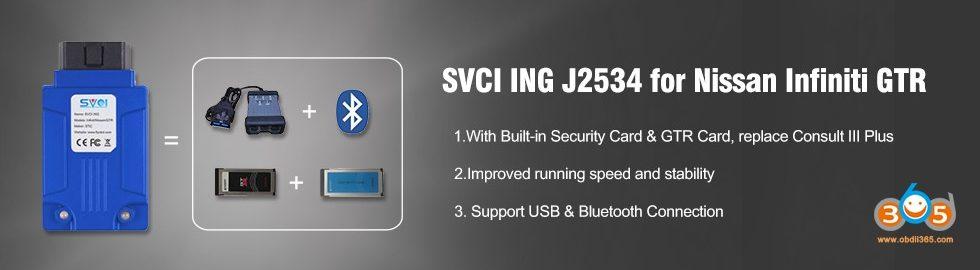980 280 SVCI ING J2534 For Nissan Infiniti GTR